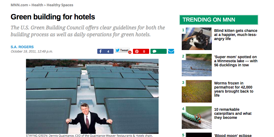 Article: Green building for hotels